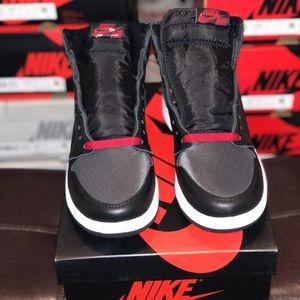 Jordan 1 High Black Satin Gym Red